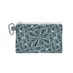Modern Oriental Ornate Pattern Canvas Cosmetic Bag (small)