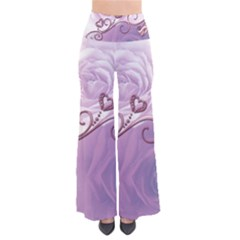 Wonderful Soft Violet Roses With Hearts Pants by FantasyWorld7