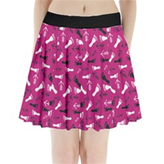 Hot Pink Pleated Mini Skirt by HASHHAB