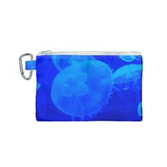 Blue Jellyfish 1 Canvas Cosmetic Bag (small)