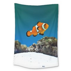 Clownfish 1 Large Tapestry by trendistuff