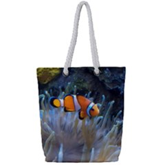 Clownfish 2 Full Print Rope Handle Tote (small) by trendistuff