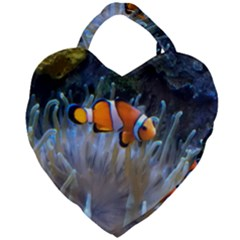 Clownfish 2 Giant Heart Shaped Tote by trendistuff