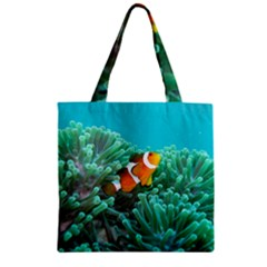 Clownfish 3 Zipper Grocery Tote Bag by trendistuff
