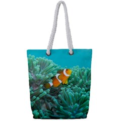 Clownfish 3 Full Print Rope Handle Tote (small) by trendistuff