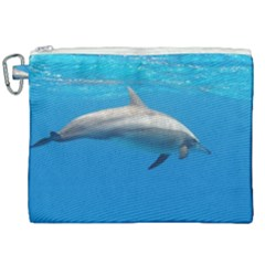 Dolphin 3 Canvas Cosmetic Bag (xxl) by trendistuff