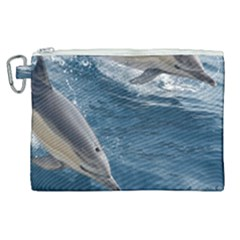 Dolphin 4 Canvas Cosmetic Bag (xl)