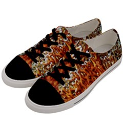 Fire Coral 1 Men s Low Top Canvas Sneakers by trendistuff