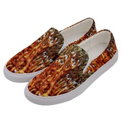 Fire Coral 1 Men s Canvas Slip Ons by trendistuff