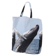 Humpback 2 Giant Grocery Zipper Tote by trendistuff