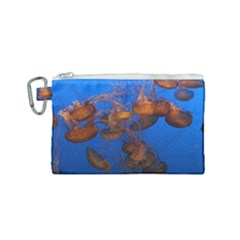 Jellyfish Aquarium Canvas Cosmetic Bag (small)