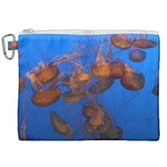 Jellyfish Aquarium Canvas Cosmetic Bag (xxl) by trendistuff