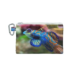 Mandarinfish 1 Canvas Cosmetic Bag (small) by trendistuff