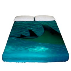 Manta Ray 1 Fitted Sheet (king Size) by trendistuff
