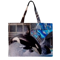 Orca 1 Zipper Medium Tote Bag by trendistuff