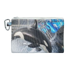 Orca 1 Canvas Cosmetic Bag (large) by trendistuff