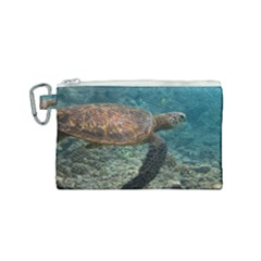 Sea Turtle 3 Canvas Cosmetic Bag (small)
