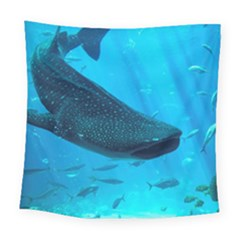 Whale Shark 2 Square Tapestry (large) by trendistuff