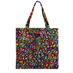 Artwork By Patrick Colorful 6 Zipper Grocery Tote Bag by ArtworkByPatrick