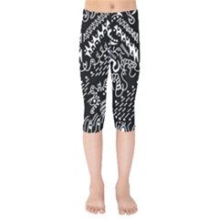 Chicken Hawk Invert Kids  Capri Leggings  by MRTACPANS