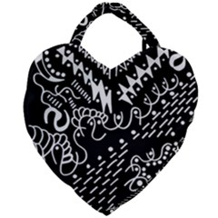 Chicken Hawk Invert Giant Heart Shaped Tote
