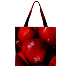 Apples 1 Zipper Grocery Tote Bag by trendistuff