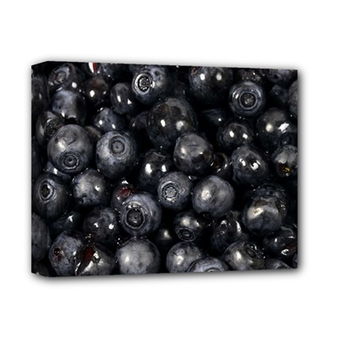 Blueberries 1 Deluxe Canvas 14  X 11  by trendistuff