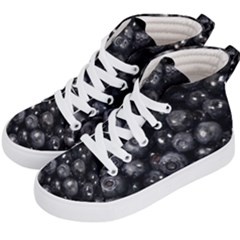 Blueberries 1 Kid s Hi Top Skate Sneakers by trendistuff