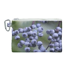 Blueberries 2 Canvas Cosmetic Bag (medium)