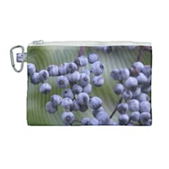 Blueberries 2 Canvas Cosmetic Bag (large) by trendistuff