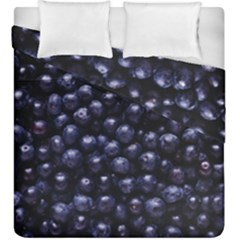 Blueberries 4 Duvet Cover Double Side (king Size) by trendistuff