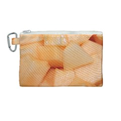 Cantaloupe Canvas Cosmetic Bag (medium) by trendistuff