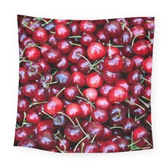 Cherries 1 Square Tapestry (large) by trendistuff