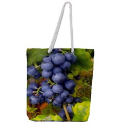 Grapes 1 Full Print Rope Handle Tote (large) by trendistuff
