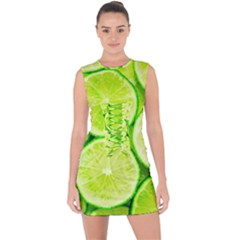 Limes 3 Lace Up Front Bodycon Dress by trendistuff