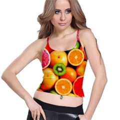 Mixed Fruit 1 Spaghetti Strap Bra Top by trendistuff