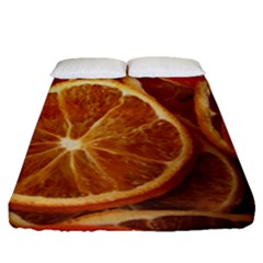 Oranges 5 Fitted Sheet (queen Size) by trendistuff