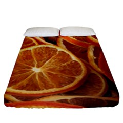 Oranges 5 Fitted Sheet (california King Size) by trendistuff