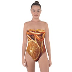 Oranges 5 Tie Back One Piece Swimsuit