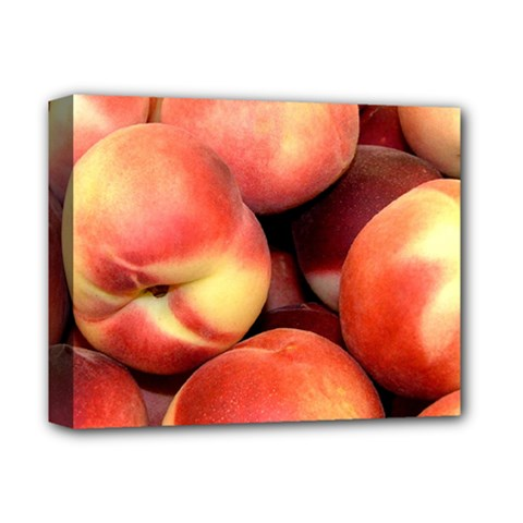 Peaches 1 Deluxe Canvas 14  X 11  by trendistuff