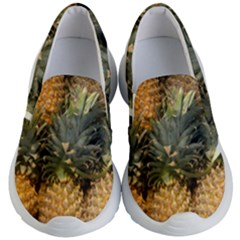 Pineapple 1 Kid s Lightweight Slip Ons by trendistuff