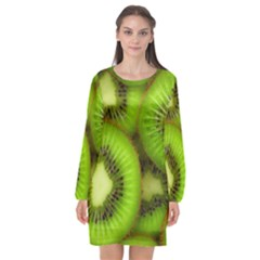 Kiwi 1 Long Sleeve Chiffon Shift Dress  by trendistuff