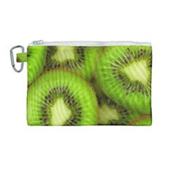 Kiwi 1 Canvas Cosmetic Bag (large) by trendistuff