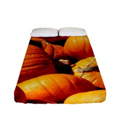 Pumpkins 3 Fitted Sheet (full/ Double Size) by trendistuff