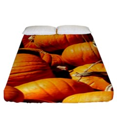 Pumpkins 3 Fitted Sheet (king Size) by trendistuff