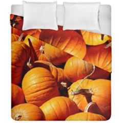 Pumpkins 3 Duvet Cover Double Side (california King Size) by trendistuff
