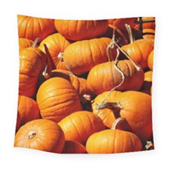 Pumpkins 3 Square Tapestry (large) by trendistuff