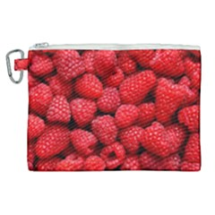 Raspberries 2 Canvas Cosmetic Bag (xl) by trendistuff
