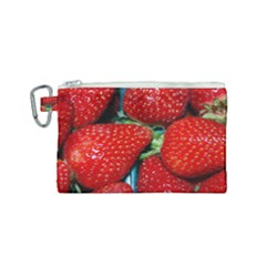 Strawberries 3 Canvas Cosmetic Bag (small) by trendistuff