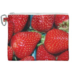 Strawberries 3 Canvas Cosmetic Bag (xxl)